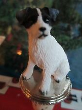 JACK RUSSELL ~  rough coat  blk white  WINE STOPPER