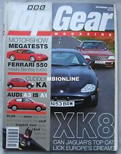 Top Gear 11/1996 featuring  Jaguar, BMW, Bentley, Ferrari, Caterham,Aston Martin
