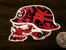 "METAL MULISHA Red Black 3"" Helmet Sticker Window Decal MX Motocross Supercross"