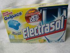 DISCONTINUED ELECTRASOL Gelpacs Citrus  Jet-Dry Dishwasher Detergent 12 ct 2002