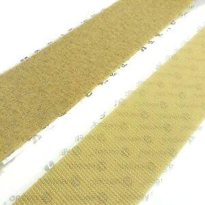 """2"""" Beige VELCRO® Brand HIGH-TACK Self Adhesive Hook and Loop Set - 1 YARD"""