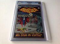 TOMB OF DRACULA 2 CGC 7.5 COOL BLACK COVER GENE COLAN MARVEL COMICS 1972