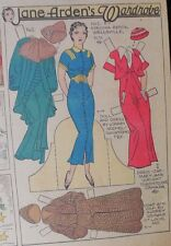 Jane Arden Sunday with Large Uncut Paper Doll from 2/10/1935 Full Size Page!