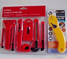 8 - Piece Cutter & Knife Set with Bonus Dual Blade Package Opener