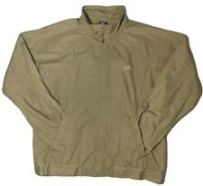 Le Tigre Men's Bomber Jacket Brown Long Sleeve XL  ZIP Up
