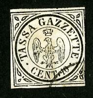 Modena Stamps # PR5 Superb 4 Margins Used Scott Value $2,100.00