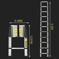 3.2M Teleskopleiter Alu Mehrzweckleiter Klappleiter Anlegeleiter Stehleiter Neu