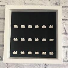 LEGO Mini Figures Black Display Case Frame White Brick Series 17 16 15 14 13 12