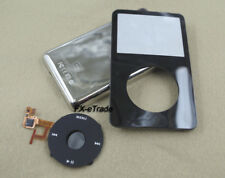 Black Front Faceplate Metal Back Housing Case Clickwheel for iPod 5th Video 30GB