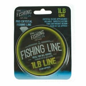 Gone Fishing 100M 1LB Pro Crystal Fishing Line Reliable Light Weight / DIY Cord