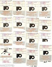 LOT (29) 1973-1974 STANLEY CUP CHAMPS PHIL FLYERS TICKET STUBS  BROAD ST BULLIES