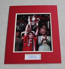STEVE BRUCE Manchester United HAND SIGNED Autograph Photo Mount Memorabilia COA