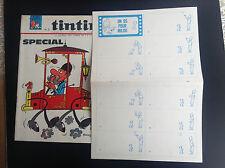 Supplement Tintin Un os pour Milou TBE avec journal