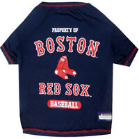 Boston Red Sox Officially Licensed MLB Dog Pet Tee Shirt, Navy Sizes XS-XL