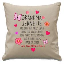 Personalised Grandma Cushion Cover Grandkids Names Birthday Christmas Keepsake