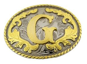 Initial Letter G Belt Buckle Western Rodeo Cowboy hebilla de cinturón inicial