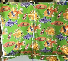 Richloom Solarium Fish 1 Yard plus Upholstery Fabric Sea life Aquarium Marine