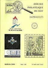 Bulletin 2000 de l´Amicale philatélique de l´Est