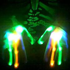 MARDI GRAS BLUE GREEN ORANGE LED Light Up Xbone Rave Dance Party Gloves *WOW*