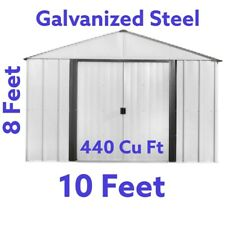 Arrow 10-ft x 8-ft  Galvanized Steel Storage Shed 440 cu ft capacity