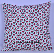 """Indian Cotton Abstract Cushion Pillow Cover Kantha Quilted Pillow Case Decor 16"""""""