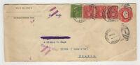 U.S.A. 4 timbres & 1 entier sur lettre 1929 tampon U.S.A Colorado Springs/FDCag4