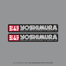 SKU2578 - 2 x Yoshimura Exhausts - Suzuki -  Decals - Stickers - 300mm x 48mm