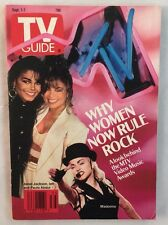 No Label Excellent TV Guide 1990 Janet Jackson Madonna Paula Abdul MTV