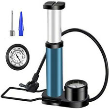 Air Pumper Foot Activated Floor Pump W/ 140psi Gauge Mini Portable Bike Bicycle
