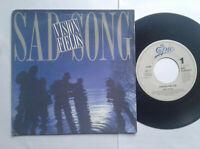 "Vision Fields / Sad Song 7"" Vinyl Single 1989 mit Schutzhülle"