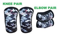 Knee Sleeves + Elbow Sleeves Support Crossfit Weight Lifting Brace  (5mm)