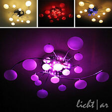 """Design plafonnier """"Jolly"""" 16-flg. télécommande LED Changement de couleur Lampe de"""