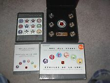 2003 AND 2005 CANADA NHL ALL STAR STAMP AND MEDALLION SET HALF PRICE !!!