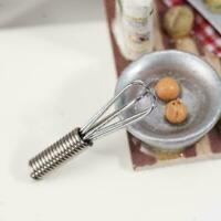 Mini Metall Schneebesen 3cm für 1/12 1/6 Verhältnis Puppenhaus Puppen Küche T6L9
