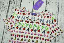 NEW VERSACE x H&M SHIRT POLO BUTTON TOP FRUITS RARE EUR M US8 EUR 38