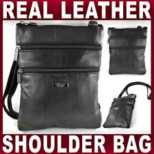 GENUINE LEATHER SHOULDER BAG BLACK handbag Cross Body Womens Ladies Women NEW
