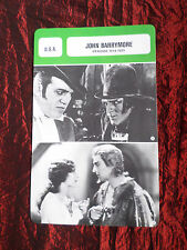 JOHN BARRYMORE- MOVIE STAR - FILM TRADE CARD - FRENCH- #2