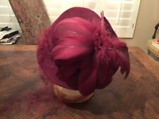 Vintage 1940's Muller Modes Feathered Hat