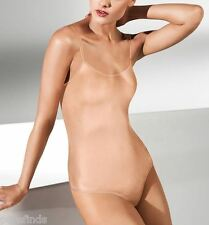 WOLFORD NEON STRING BODY 78263, BODYSUIT, TOP, XS, in bellini (4742), New in box