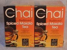 2 scatole di Chai Xpress speziato Masala Tea 80 Premium bustine di tè