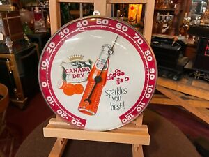 """1961 CANADA DRY 12""""  THERMOMETER SIGN  """"Watch Video"""""""
