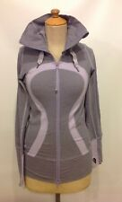 Lululemon Stride Jacket Size 4 Womens Hoodie Wee Stripe Lilac Purple Run Yoga