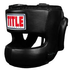 Title Classic Youth Face Protector Headgear Black