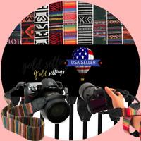 Vintage Hippy Camera Strap Shoulder Neck Camvas Retro Straps Multicolor For DSLR