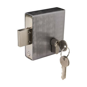 Weld In Gate Lock Double Throw Dead Lock To Suit Box Section Cylinder + 3 Keys