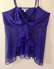 CACIQUE 💘SEXY💘SENSUAL💘18/20 Purple Satin&Chiffon Babydoll Chemise Nighty EUC