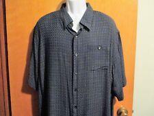Men's Big/Tall Mondo Di Marco Short Sleeve Button Front Dress Shirt Sz 2XL EUC!