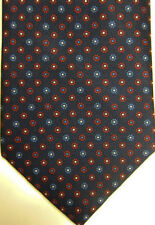 NEW $230 Brioni Dark Blue With Small Red & Blue Florets Silk Tie
