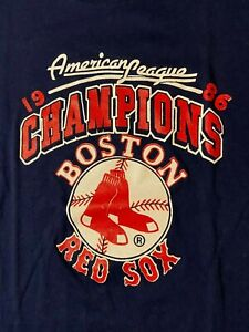 Vintage 80s 1986 Boston Red Sox AL Champion T-Shirt MLB Baseball Fenway Park