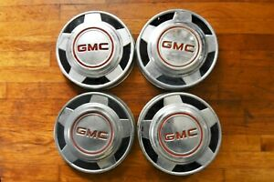 "1977 GMC Sierra 1/2 ton 10.5"" Dog Dish Hub Caps 1978 1979 1980 1981 1982 1983 84"